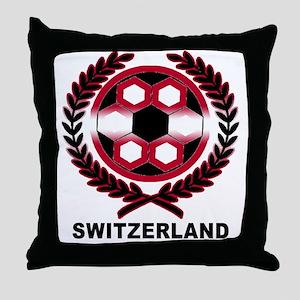 Switzerland World Cup Soccer Wreath Throw Pillow