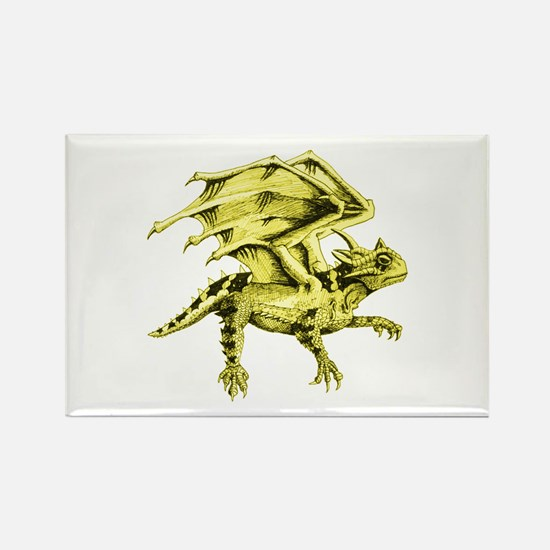 Flying Horny Toad Rectangle Magnet