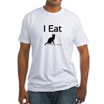 I Eat Cat Fitted T-Shirt