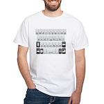 Qwerty Keyboard White T-Shirt