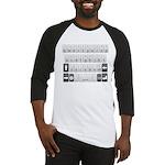 Qwerty Keyboard Baseball Jersey