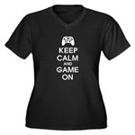 Keep Calm And Game On Women's Plus Size V-Neck Dar