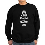 Keep Calm And Game On Sweatshirt (dark)
