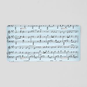 Powder Blue Sheet Music Aluminum License Plate