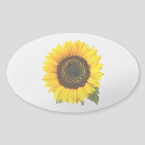Sunflower Sticker (Oval)