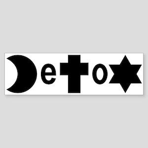 Religion DeToX Bumper Sticker