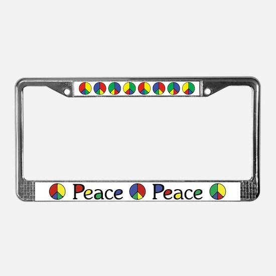 Elegant Peace Color License Plate Frame