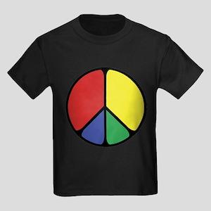 Elegant Peace Color Kids Dark T-Shirt