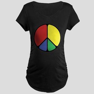 Elegant Peace Color Maternity Dark T-Shirt