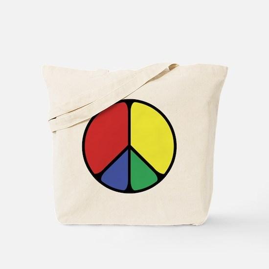 Elegant Peace Color Tote Bag