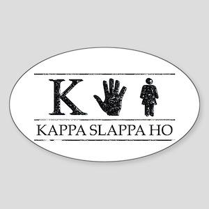 Kappa Slappa Ho (Vintage) Oval Sticker