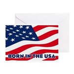 Born in the USA Greeting Cards