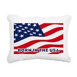 Born in the USA Rectangular Canvas Pillow