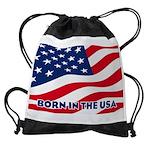 Born in the USA Drawstring Bag
