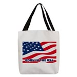 Born in the USA Polyester Tote Bag