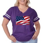 Born in the USA Women's Plus Size Football T-Shirt