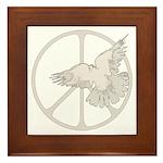 Peace Sign & Dove Framed Tile