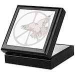 Peace Sign & Dove Keepsake Box