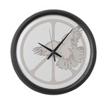 Peace Sign & Dove Large Wall Clock
