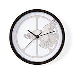 Peace Sign & Dove Wall Clock