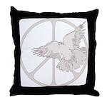 Peace Sign & Dove Throw Pillow