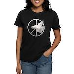 Peace Sign & Dove Women's Dark T-Shirt