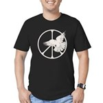 Peace Sign & Dove Men's Fitted T-Shirt (dark)
