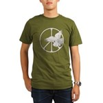 Peace Sign & Dove Organic Men's T-Shirt (dark)