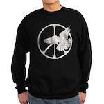 Peace Sign & Dove Sweatshirt (dark)
