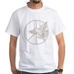 Peace Sign & Dove White T-Shirt