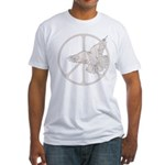 Peace Sign & Dove Fitted T-Shirt