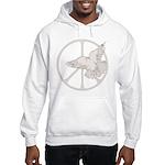 Peace Sign & Dove Hooded Sweatshirt
