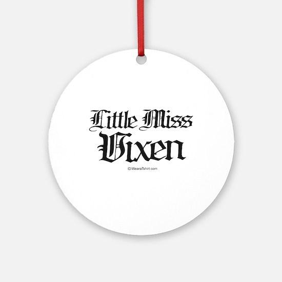 Little Miss Vixen -  Ornament (Round)