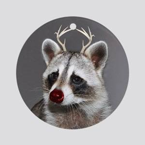 Christmas Raccoon Ornament (Round)