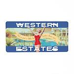 Western Estates Aluminum License Plate
