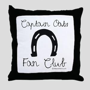 Captain Oats Fan Club -  Throw Pillow