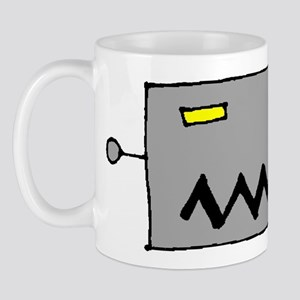 Big Grey Robot Head Mug