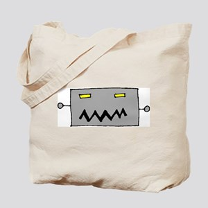 Big Grey Robot Head Tote Bag