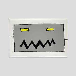 Big Grey Robot Head Rectangle Magnet