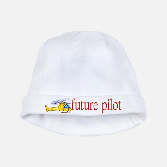 future helicopter pilot baby Infant Cap