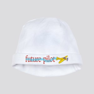 future airplane pilot baby Infant Cap