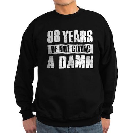 98 years of not giving a damn Sweatshirt (dark)