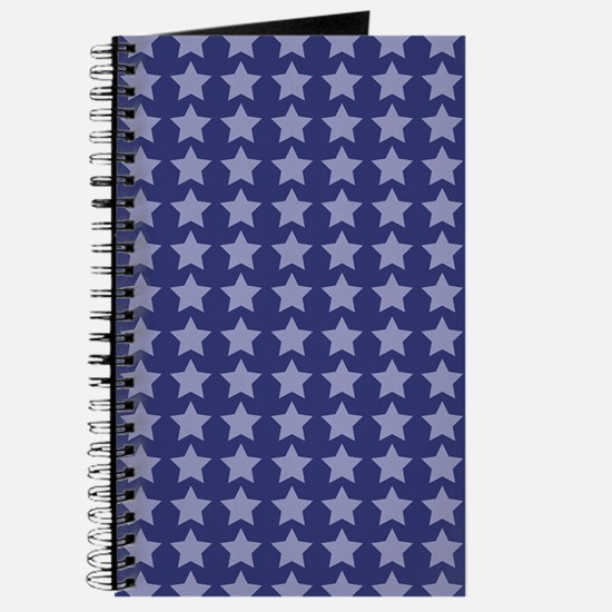 Blue Stars Pattern Journal