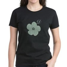 Cute Floral Monogram T-Shirt