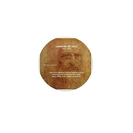 Wisdom Leonardo da Vinci Mini Button