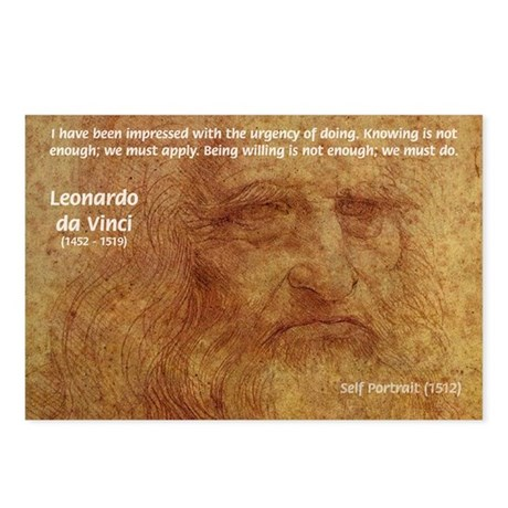 Wisdom Leonardo da Vinci Postcards (Package of 8)