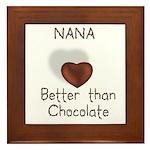Nana Better Than Choco Framed Tile