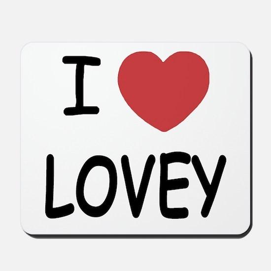 I heart lovey Mousepad