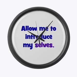 Introduce My Selves Large Wall Clock