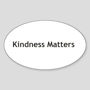 Kindness Matter Sticker (Oval)